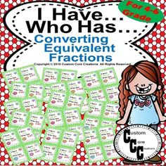 This game is all about converting equivalent fractions.This game will help sharpen the student's skills for many commonfractions and determining their equivalent fraction.*********************************************************************************************************************************... Equivalent Fractions, Math Fractions, Dividing Fractions, Multiplication, Maths, Math Division, Long Division, Student Behavior Log, School Resources