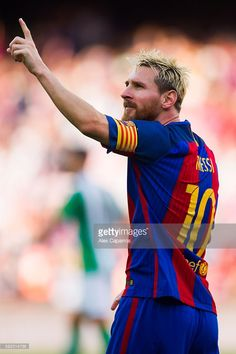 Lionel Messi of FC Barcelona celebrates after scoring his team s second  goal during the La Liga 2bc818f7b