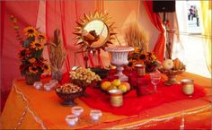 The Mehrgān spread table (Dusharm, Dream of Persia) Autumnal Equinox, Persian, Table Settings, Table Decorations, Furniture, Indian, Weddings, Home Decor, Fall