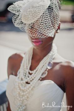 Styled Bridal Shoot- Natural Hair Bride with veil   Photography by http://kishapierredesigns.com/