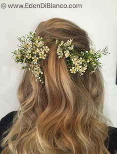Boho Wedding Hair, Wedding Hair And Makeup, Hair Makeup, Wedding Makeup Artist, Best Wedding Hairstyles, Beach Waves, Floral Crown, Updos, Mists