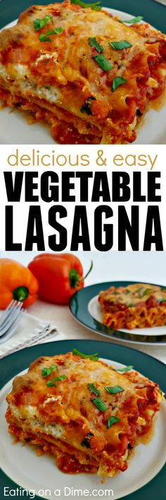 Try this Hearty Vegetarian Lasagna Recipe - your family won't even miss the meat! Make two of these because it also freezes great!