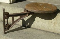 Vintage Factory Industrial Cast Iron Swing Out Drafting