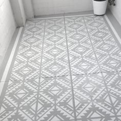 DYI floor stencil Could be a good idea to cover up an atrocious laminate kitchen floor