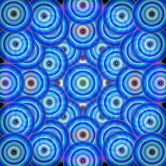 pattern graphic illusion optical art design fashion color color meditation circle blue calm hypnotic poster technical / Portfolio - sircia67s Webseite!