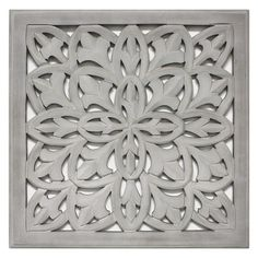 "Carved Wood Panel 18""x18"" - Grey : Target"