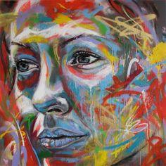 Spray Paint Portraits by David Walker Arte de Rua