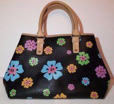 75b73f1ae3 RELIC by Fossil Black Floral 3 Compartment Purse Shoulder Bag Handbag  Satchel  Relic  ShoulderBag
