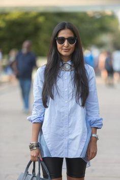 Street Style - New York Fashion Week Spring 2015      Stylist Nausheen Shah in a Marissa Webb outfit