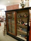 old windows make sliding doors for this cabinet