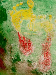 collograph Footprint, Artwork, Painting, Work Of Art, Auguste Rodin Artwork, Painting Art, Artworks, Paintings, Painted Canvas