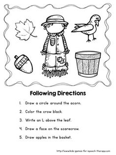 Fall Speech And Language Activities