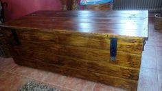 Dřevěná bedna na hračky