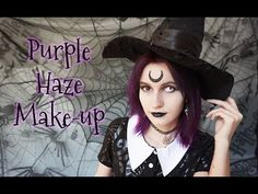 Auri Daer: Purple Haze ☾ Make-up Transformation ☽ Purple Witc...