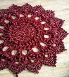 Текстиль, ковры ручной работы. Ярмарка Мастеров - ручная работа. Купить Ковер вязаный бордовый 1м 30см. Handmade. Белый