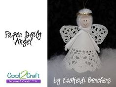 Paper Doily Angel by EcoHeidi Borchers - craft TV