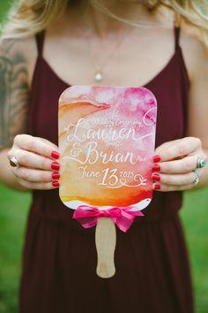 Orange and Pink Watercolor Program