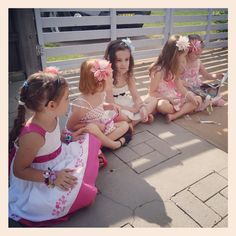Pass the parcel time - vintage theme kids tea party games ideas