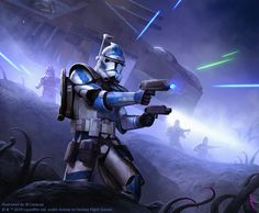 One of my favorite clone trooper assignments. Also done for FFG's Star Wars X-Wing: LAAT/i Gunship expansion. :-) Commissioned by Fantasy Flight Games Art Director: Preston Stone Ffg Star Wars, Star Wars Witze, Star Wars Jokes, Star Wars Gifts, Star Wars Fan Art, Star Wars Concept Art, Star Wars Padme, Star Wars Pictures, Star Wars Images