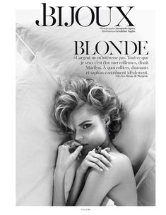 blonde: magdalena frackowiak by giampaolo sgura for vogue paris may 2013 | visual optimism; fashion editorials, shows, campaigns & more!