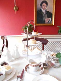 Tea with Darcy.  Jane Austen Center in Bath