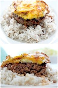Loco moco, native hawaiian food