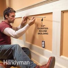 Wainscoting Bedroom How To Build horizontal wainscoting bathroom.Faux Wainscoting Board And Batten. Wainscoting Styles, Faux Wainscoting, Installing Wainscoting, Dining Room Wainscoting, Wainscoting Nursery, Moldings And Trim, Moulding, Molding Ideas, Crown Moldings