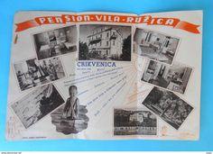 Dépliants turistici - CRIKVENICA - PENSION VILA RUZICA - Croatia old art-deco brochure hotel tourism tourist Kroatien Croatie Croazia Quarnero