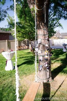 Outdoor Garden Swing for Wedding reception. With a little creativity and planning, you can create a backyard venue that is the talk of the neighborhood. Click for a few classy, budget-friendly, outside wedding ideas that are easy to implement in your own outdoor space. Outside Wedding, Wedding Reception, Wedding Ideas, Outdoor Projects, Wood Projects, Ladder Decor, Creativity, Budget, Backyard