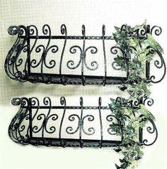 Details about Mayne Nantucket Decorative Window Box Brackets - Set of 2 Wrought iron window box