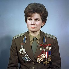 """Valentina Tereshkova - the first woman and first civilan to go to space, June 16, 1963. Same year that """"Sugar Shack"""" was #1 song on Billboard."""