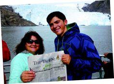 Bernadette Varoz and her son Jacob Salazar warming up with The Taos News as they tour through Kenai Fjords National Park near Seward, Alaska.