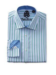 f5efd667ab 55% OFF English Laundry Men\'s Multi Dobby Stripe Dress Shirt (Green