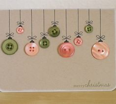 Button Ornament Christmas card!