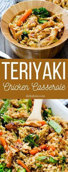 Chicken And Vegetable Casserole, Teriyaki Chicken Casserole, Healthy Chicken Casserole, Pork Casserole, Casserole Recipes, Easy Gf Dinner, New Recipes For Dinner, Supper Recipes, Healthy Dinner Recipes