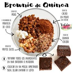 Here is the Brownie recipe so wait - DIY healthy snacks - Raw Food Raw Food Recipes, Veggie Recipes, Vegetarian Recipes, Cooking Recipes, Healthy Recipes, Healthy Sweets, Healthy Cooking, Healthy Snacks, Healthy Eating