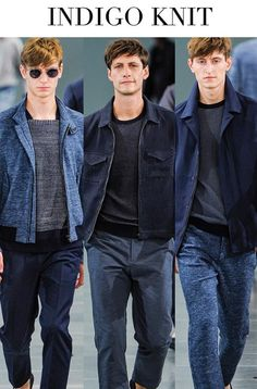 FW 2014-15, mens denim trends, indigo knit