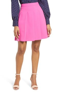 Free shipping and returns on Halogen® x Atlantic-Pacific Pleated Miniskirt at Nordstrom.com. Channel Blair Eadie's ladylike flair with this bouncy pleated skirt that's sure to punch up any drab day out. The prep-inspired style is part of the mega-influencer's latest Halogen collection, one of fun, colorful pieces to inspired creative mixing and matching through the season. Pleated Skirt, Skater Skirt, High Waisted Skirt, Girly Girl Outfits, Blair Eadie, Atlantic Pacific, Punch, Channel, Nordstrom