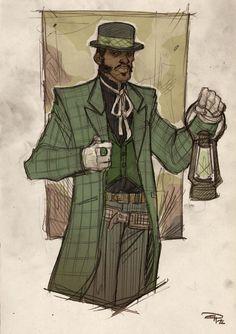 Green Lantern, old west.