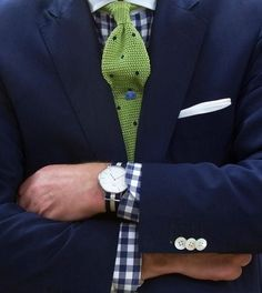 Gingham Shirt and NoveltyTie Sharp Dressed Man, Well Dressed Men, Preppy Style, My Style, Preppy Men, Style Blog, Mens Fashion Blog, Suit Fashion, Male Fashion