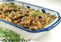 """As with most Khoreshts, you can leave out the meat and just eat rice and the sauce... and mushrooms on their own are already very filling, so it's not a """"light"""" version either... I always make my mushrooms like this for any stew, they're just better this way."""