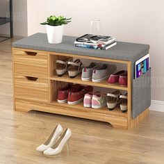 Shoes Storage Rack Stool Padded Seat Buy Shoes Storage Rack Stool Padded Seat, sale ends soon. Be inspired: enjoy affordable quality shopping at Gearbest! Shoe Storage Design, Shoe Storage Rack, Diy Shoe Rack, Rack Design, Shoe Rack With Seat, Shoe Rack Bench, Purse Storage, Shoe Racks, Dressing En Palette