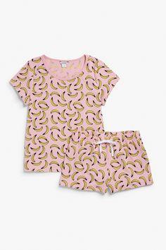 Monki Matching pyjamas  in Pink Bluish Light