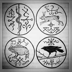"""North, south, east and west from """"Traditional Witchcraft: A Cornish Book of Ways"""" by Gemma Gary."""