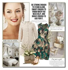 """Be strong enough to stand alone, smart enough to know when you need help, and brave enough to ask for it!!"" by lilly-2711 ❤ liked on Polyvore featuring N°21, Neiman Marcus, Erdem, Valentino, Casadei, valentino and leightonmeester"