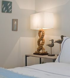 Rope Lamp for ocean/beach theme room