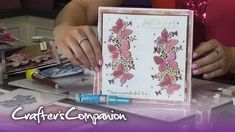 Creating panels with Edge Dies - Chloe Endean Chloes Creative Cards, Crafters Companion Cards, Butterfly Cards, Christmas Cards, Card Making, Make It Yourself, Griffins, Youtube, Handmade