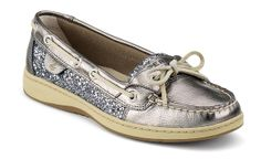 WANT!  perfect new boat/sailing shoes!  charcoal glitter Angelfish Slip-On Leather Boat Shoes | Sperry Top-Sider