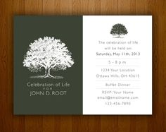 Mourning Card for Memorial Funeral Announcements or Invites