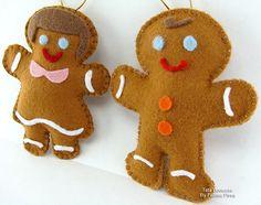 Casal Gingerbread em feltro | Flickr – Compartilhamento de fotos!